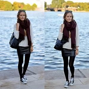 Zara In Hamburg : anna r cubus burgundy scarf h m leather skirt zara bag h m cashmere knit burgundy ~ Watch28wear.com Haus und Dekorationen