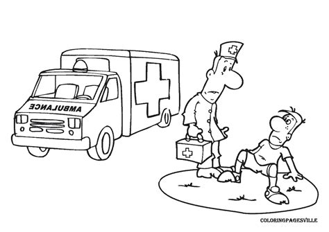 Paramedic Coloring Pages - Eskayalitim
