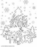 Coloring Winter Printable Activity Cold Days Animals Sheet Indoor Three Perfect sketch template