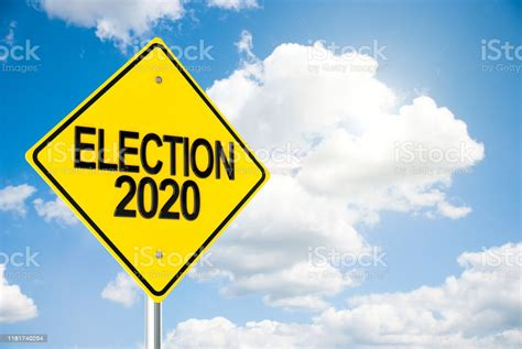 Live 2020 presidential election results and maps by state. Road Sign Election 2020 On Sky Stock Photo - Download Image Now - iStock