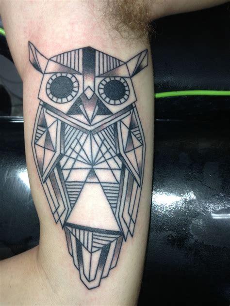 geometric tattoo owl ideas flawssy