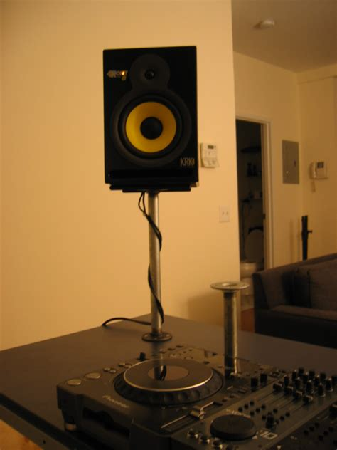 desktop speaker stands how to create a professional dj booth from ikea parts