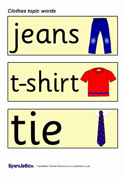 Clothes Word Cards Topic Sparklebox Welsh Vocabulary