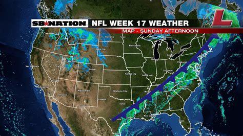 nfl weather forecast week  rainy weather