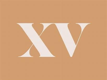 Roman Numeral Xv Number Monogram Dribbble Betts
