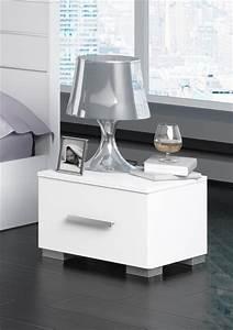 Table Chevet Design : table de chevet design laque blanc ~ Teatrodelosmanantiales.com Idées de Décoration