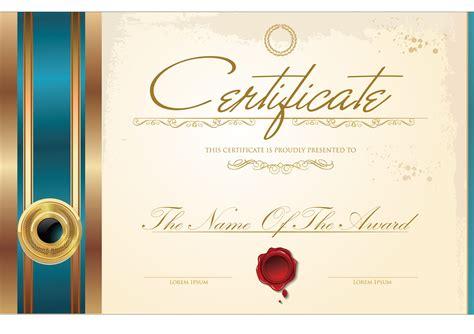creative template diploma certificate design template