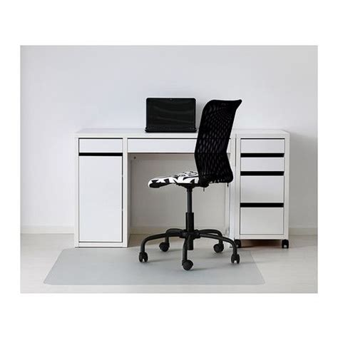micke bureau micke desk white cable drawer unit and cabinets