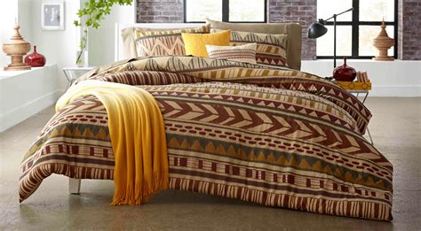 attention 5 piece comforter set tribal stripe home