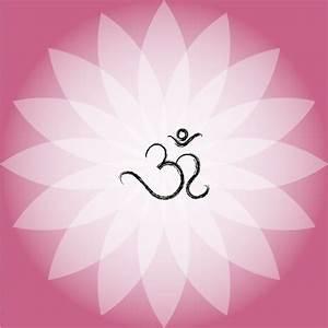 Om Symbol On Pink Lotus Flower Vector | Free Download