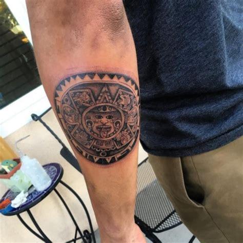 Aztec Sun God Tattoo