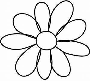 Printable flower petal template clipart best for Free flower templates