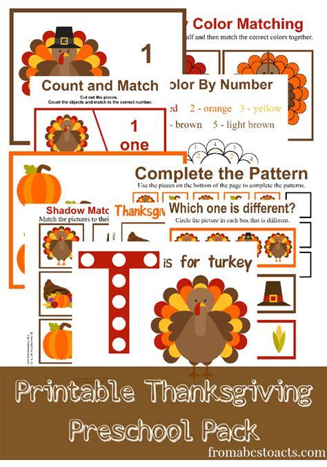 free prek thanksgiving pack 35 pages free homeschool 907 | cap45