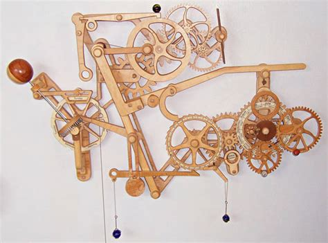wicked  mechanical wooden clock