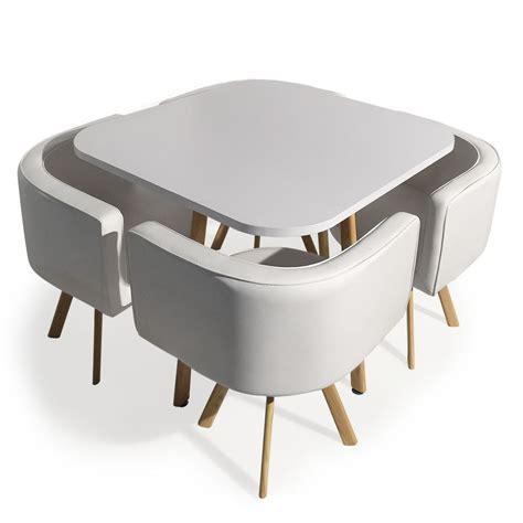 table encastrable cuisine table et 4 chaises encastrables blanc paolo lestendances fr