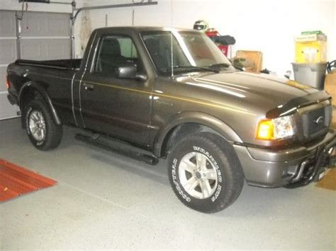 find used 2004 ford 4x4 ranger edge low mileage gray with pinstripe goodyear tires in