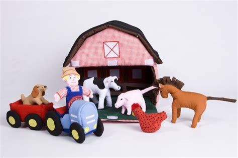 farmyard fabric playhouse plaid tidings