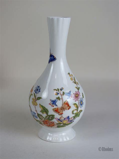 Aynsley Fine Bone China Bud Vase, Cottage Garden Pattern