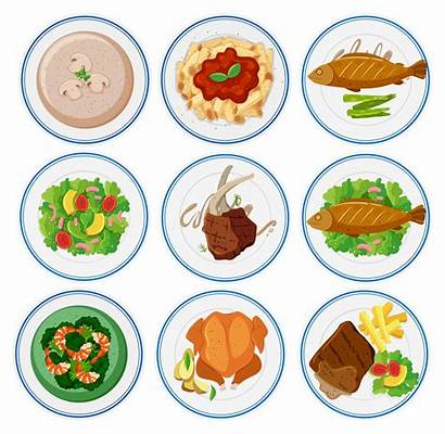 Different Types Plates Kinds Clipart Clip Round