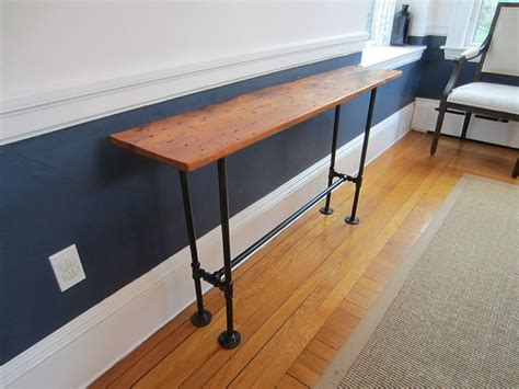 custom barnwood console table  john gaines woodworking