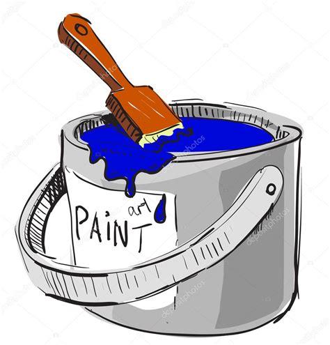 dessin pot de peinture pinceau pot de peinture et pinceau dessin color 233 esquisse illustration dans un style