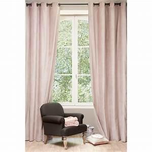 rideau en velours vieux rose 140 x 300 cm maisons du monde With couleur pour salon moderne 15 rideaux et voilages maison du monde classique chic