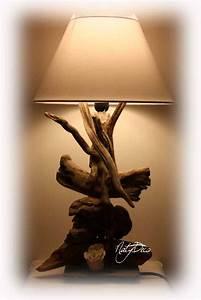 Lampe Chevet Bois Flotté : lampe en bois flott ~ Melissatoandfro.com Idées de Décoration