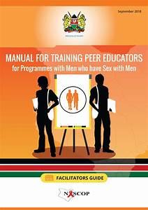 Manual For Training Peer Educators For Programmes With Men