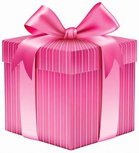 Pink present box clipart - Clip Art Library
