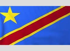Flag Of Democratic Republic Of Congo, Slow Motion Waving