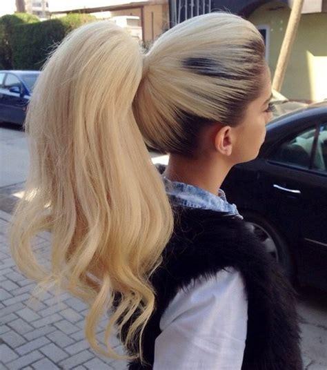 cute ponytails  long medium length hair straight