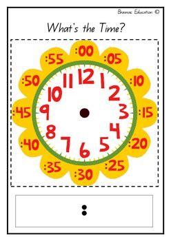 flower clock template  brainiac education teachers pay