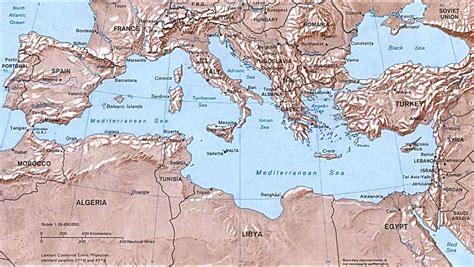 map mediterranean sea