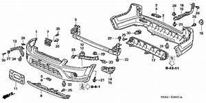 Honda Online Store   2005 Crv Bumper   U0026 39 05  Parts