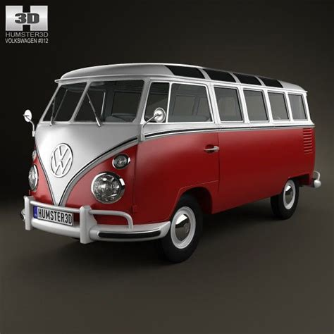 Caravelle 4k Wallpapers by Volkswagen Transporter T1 1950 3d Model From Humster3d