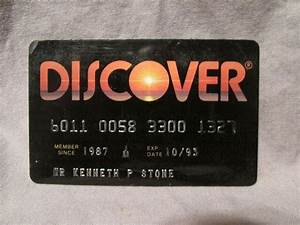 #Vintage Expired #Discover Charge Card 1993 Credit Card # ...