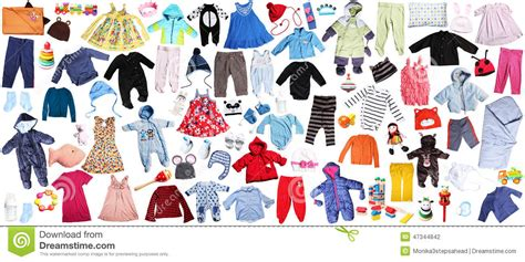 clothes  children background stock photo image