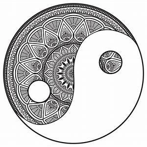 Mandala Yin And Yang To Color Malas Adult Coloring Pages