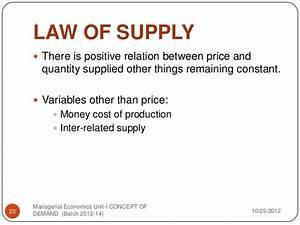 Concept Of Demand  U0026 Supply