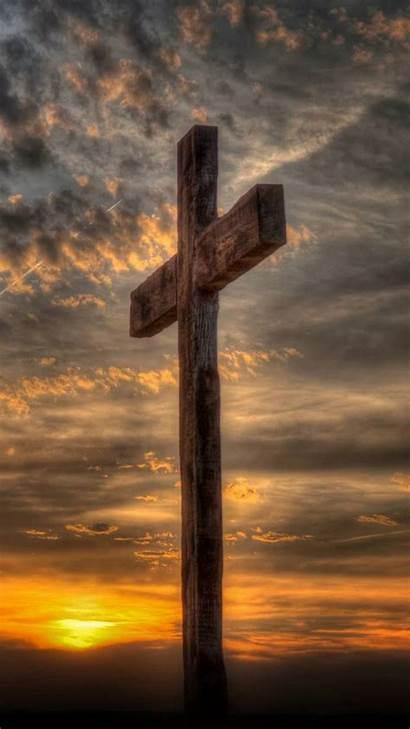 Cross Wooden Zedge Christian Sky Jesus