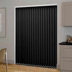 Plain Light Grey Curtains Black Pvc Blackout Vertical Blind