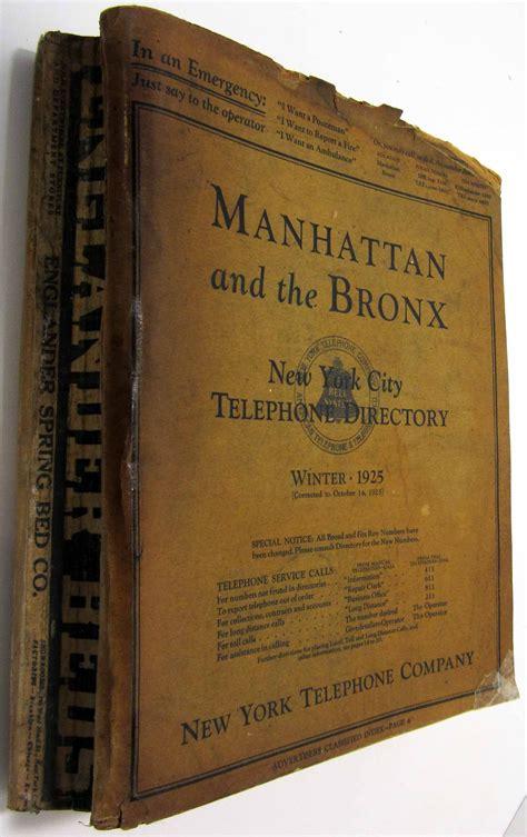 Manhattan And The Bronx New York City Telephone Directory