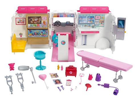 mattel barbie    krankenwagen spielset
