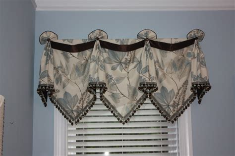 blue and brown bedroom traditional window treatments