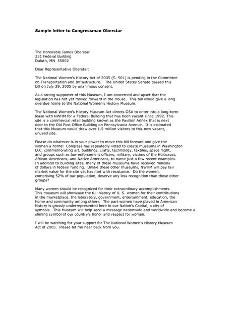 how to write a letter to a congressman sle letter to senator best letter sle