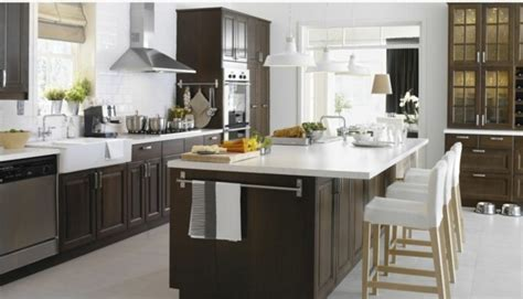 cuisine en u ikea cuisine ikea marron solutions pour la décoration