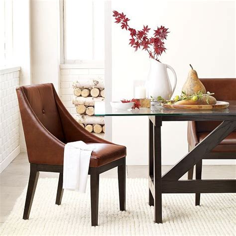curved leather dining chair modern dining chairs