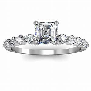 engagement ring settings engagement ring settings for With asscher cut diamond wedding rings