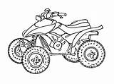 Quad Atv Coloring Transportation Pages Printable Drawing Drawings Kb sketch template