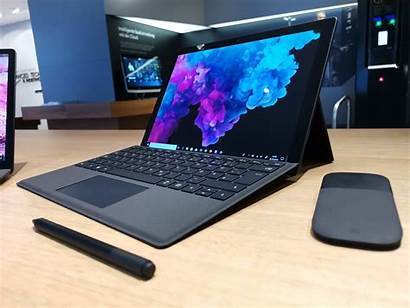 Surface Microsoft Laptop Hands Ihnen Steht Gut
